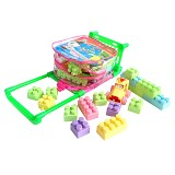 ININI Mainan Balok Bloks Troli 50pcs [iBL050T] - Building Set Transportation